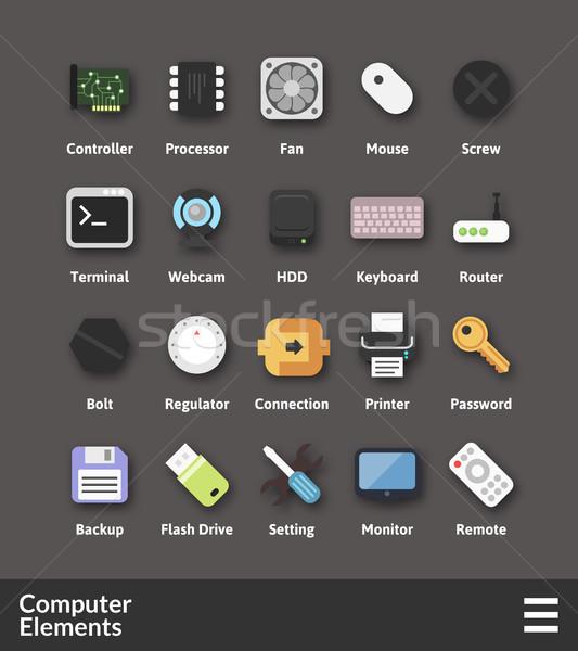 素材 デザイン コンピュータ コレクション 電話 ストックフォト © sidmay