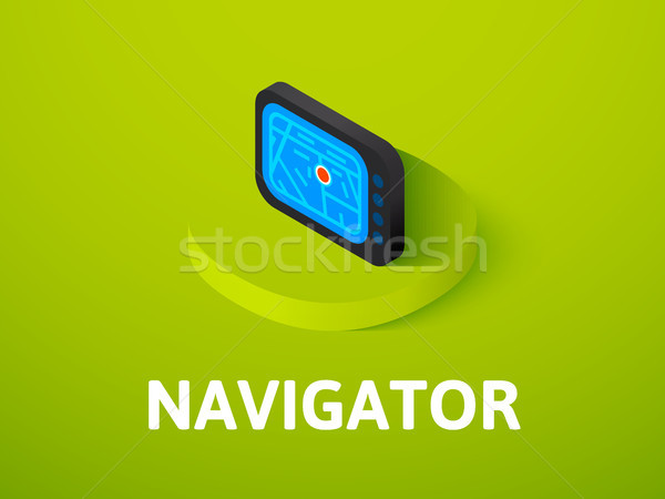 Navigator isometric icon, isolated on color background Stock photo © sidmay