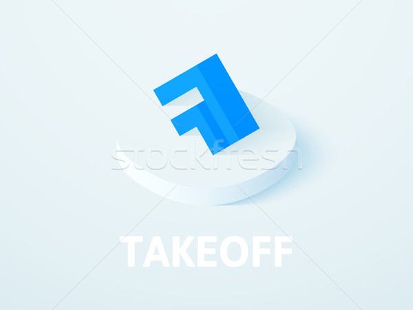 Takeoff isometric icon, isolated on color background Stock photo © sidmay