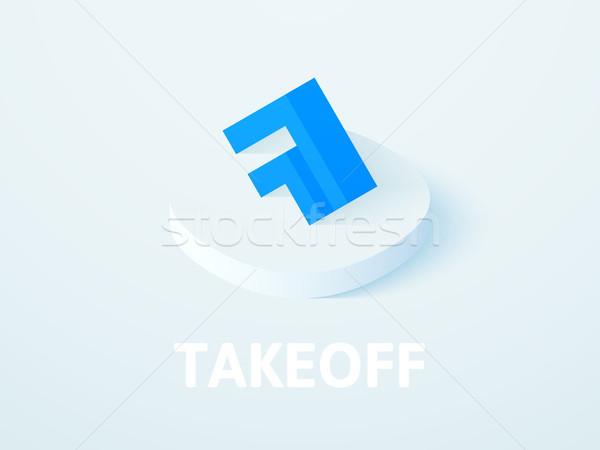 Felszállás izometrikus ikon izolált szín vektor Stock fotó © sidmay