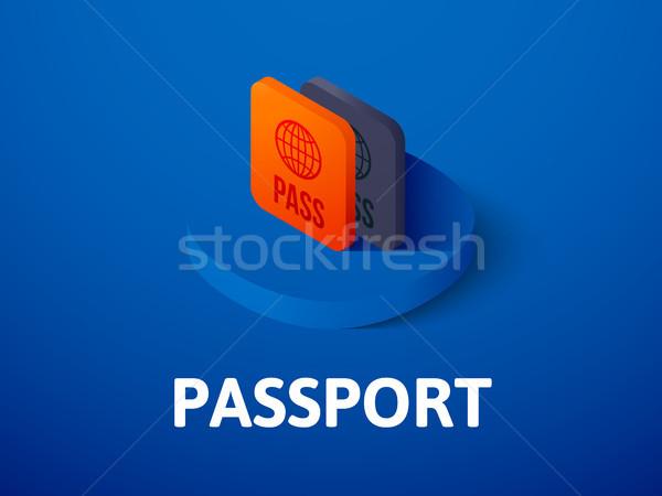 паспорта изометрический икона изолированный цвета вектора Сток-фото © sidmay
