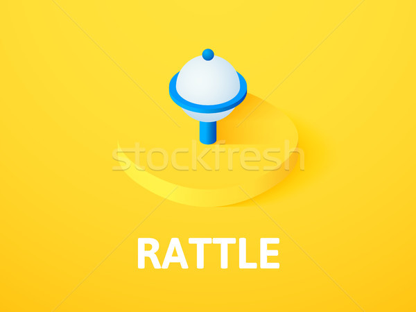 Rattle isometric icon, isolated on color background Stock photo © sidmay