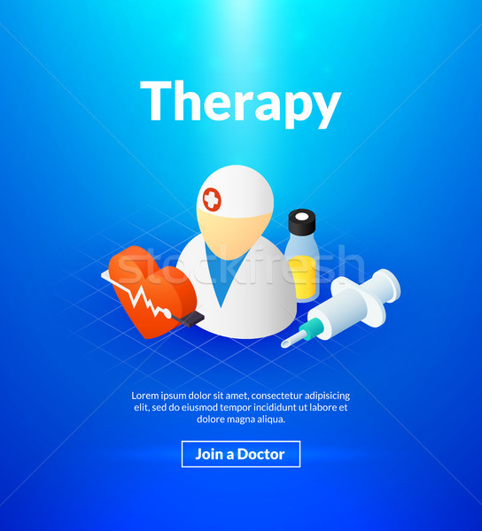 Therapy poster of isometric color design Stock photo © sidmay