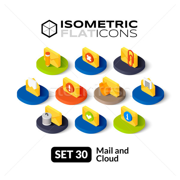 Isometric flat icons set 30 Stock photo © sidmay