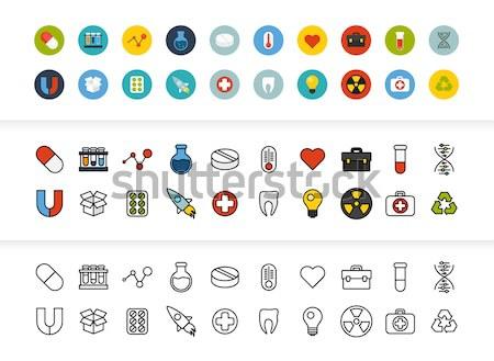 15 wetenschap geneeskunde collectie telefoon Stockfoto © sidmay