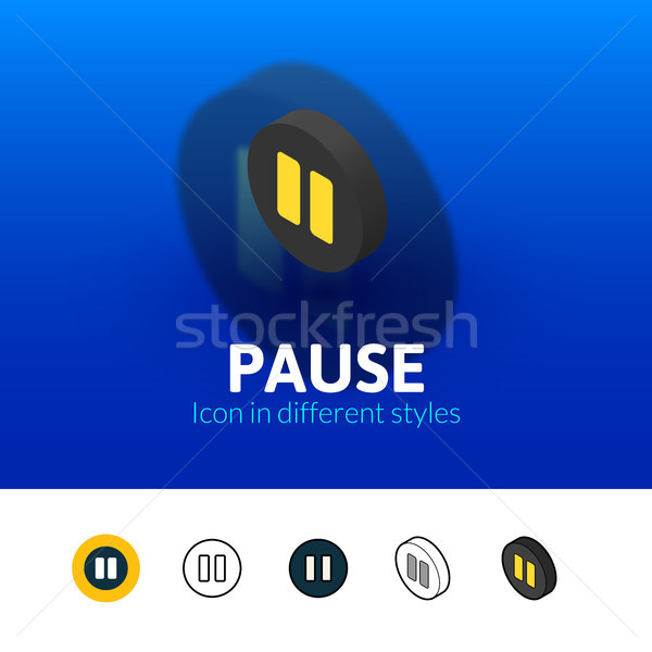 Pause icon in different style Stock photo © sidmay