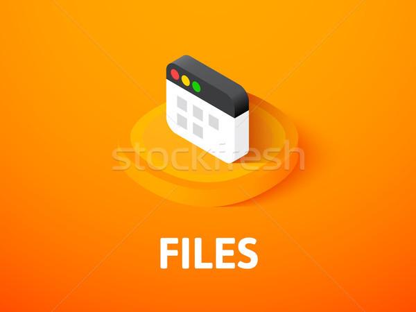 файла изометрический икона изолированный цвета вектора Сток-фото © sidmay
