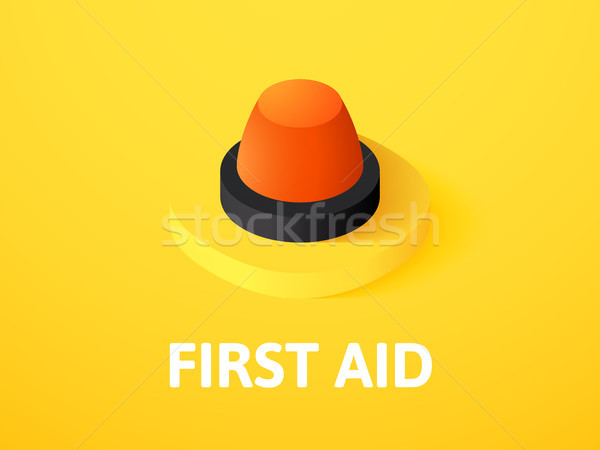 First aid isometric icon, isolated on color background Stock photo © sidmay