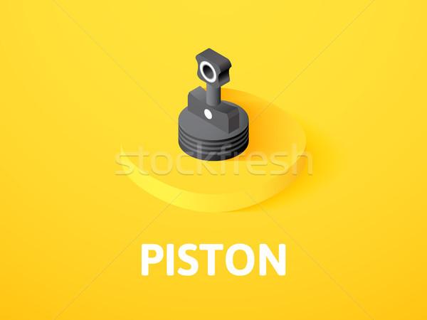 Piston izometrik ikon yalıtılmış renk vektör Stok fotoğraf © sidmay