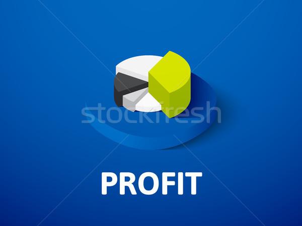 Nyereség izometrikus ikon izolált szín vektor Stock fotó © sidmay