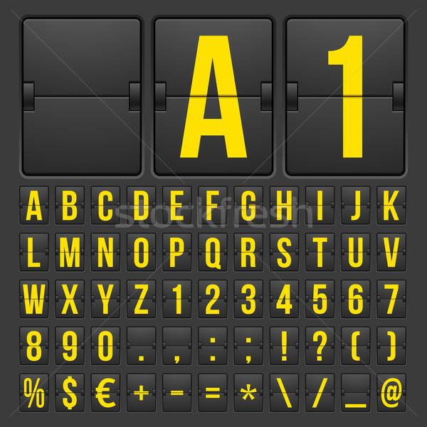 Cuenta atrás temporizador fecha calendario marcador vector Foto stock © sidmay