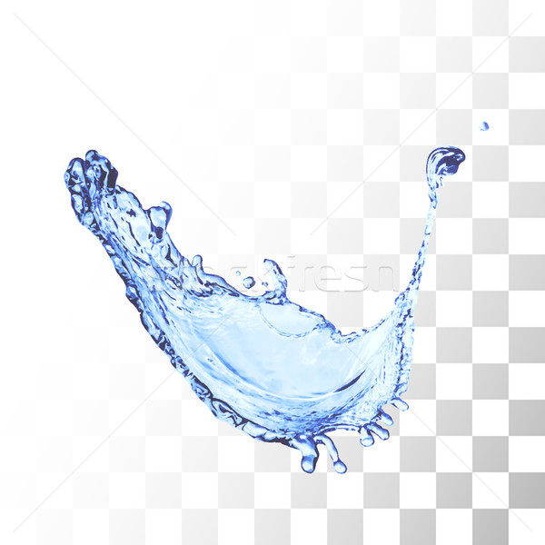 Blue water splash isolated on white Stock photo © sidmay