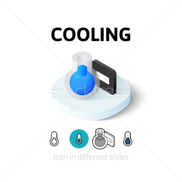 冷却 アイコン 異なる スタイル ベクトル シンボル ストックフォト © sidmay