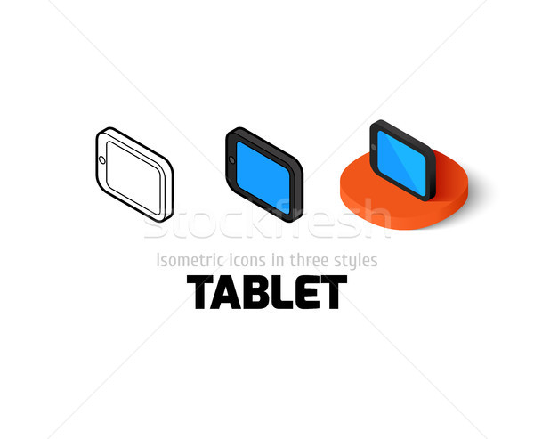 Tablet icon in different style Stock photo © sidmay