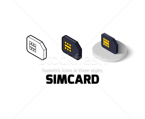 Simcard icon in different style Stock photo © sidmay