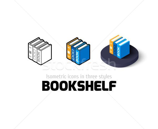 Półka na książki ikona inny stylu wektora symbol Zdjęcia stock © sidmay