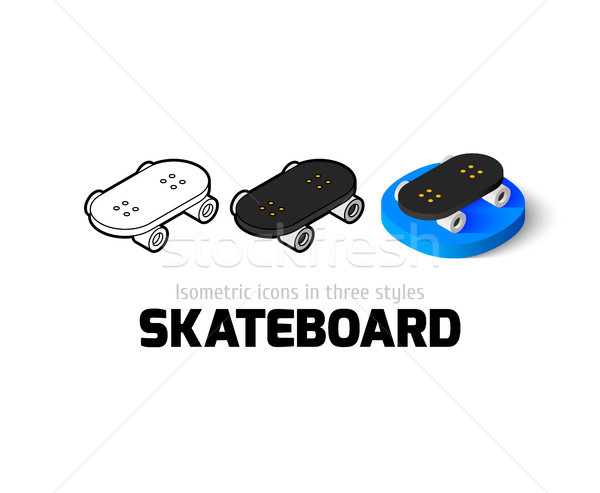 Stock photo: Skateboard icon in different style