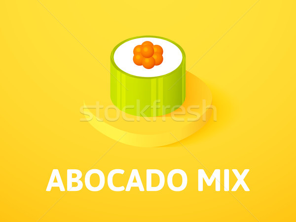 Abocado mix isometric icon, isolated on color background Stock photo © sidmay