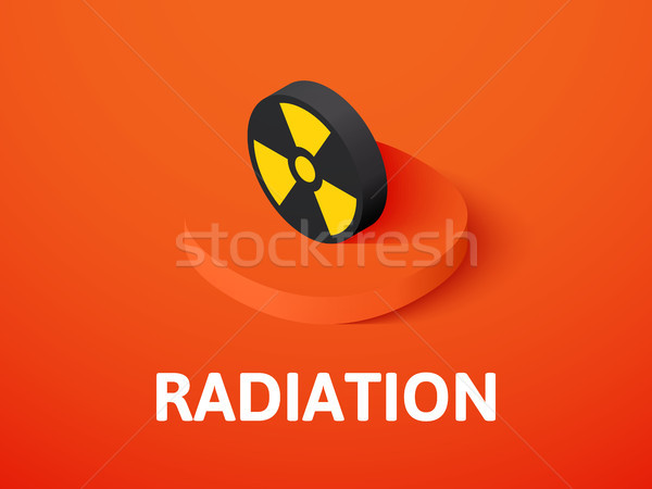 Radiation isometric icon, isolated on color background Stock photo © sidmay