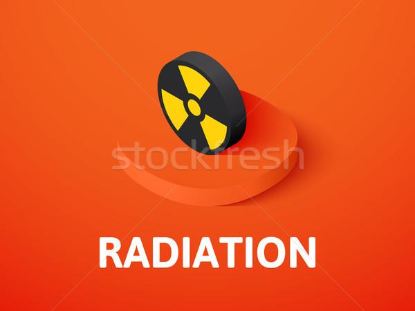 Foto stock: Radiação · isométrica · ícone · isolado · cor · vetor