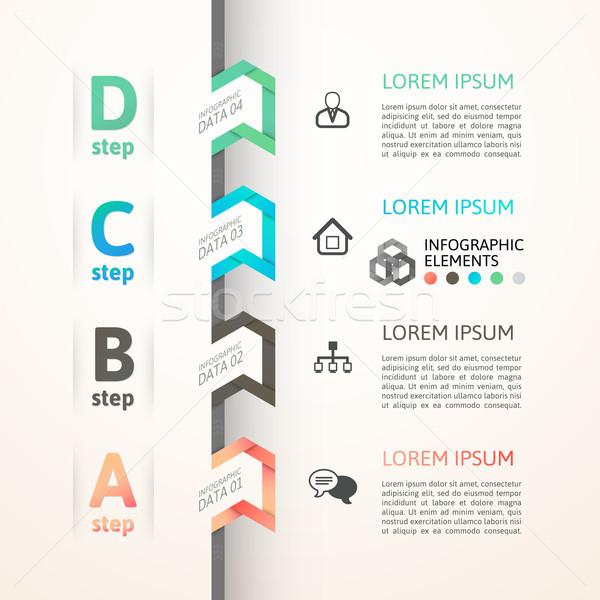 Stok fotoğraf: Modern · iş · adım · origami · stil · seçenekleri