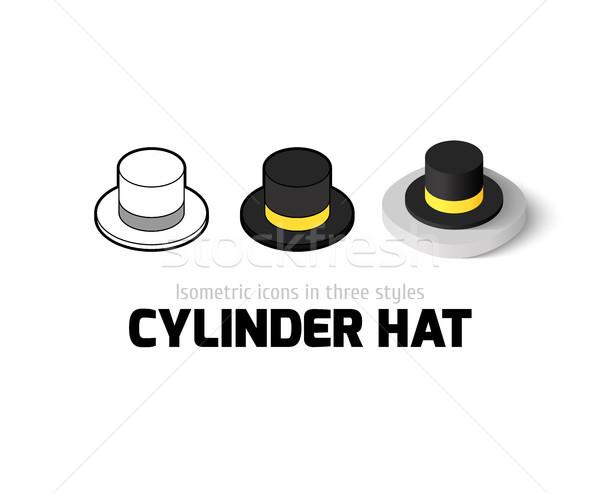 Cilinder hoed icon verschillend stijl vector Stockfoto © sidmay