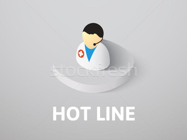 горячей линия изометрический икона изолированный цвета Сток-фото © sidmay