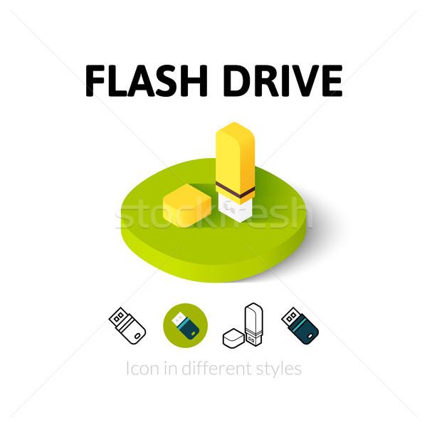 Flash drive ikon különböző stílus vektor szimbólum Stock fotó © sidmay