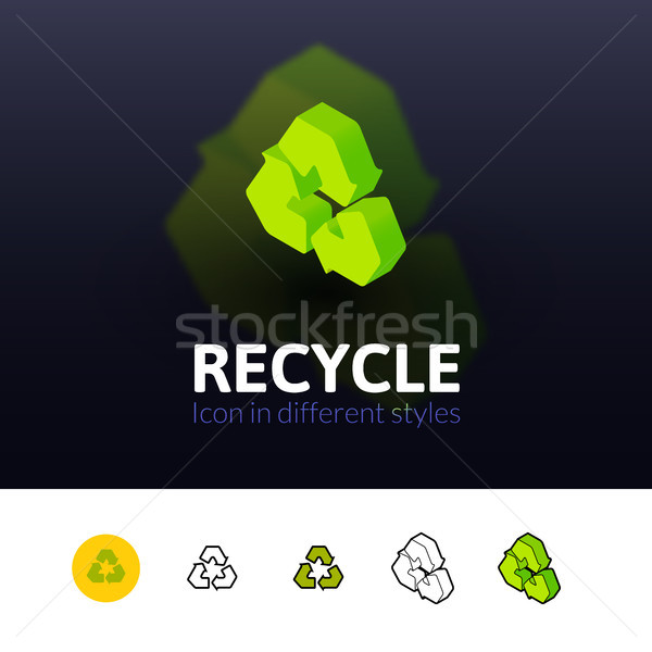 Recycle icon in different style Stock photo © sidmay