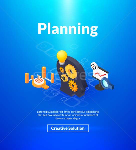 Planning poster of isometric color design Stock photo © sidmay