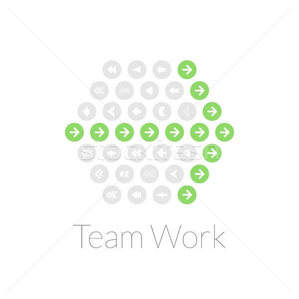 Teamarbeit Design Planung Teamarbeit Mission Business Stock foto © sidmay