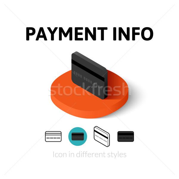 Płatność info ikona inny stylu wektora Zdjęcia stock © sidmay