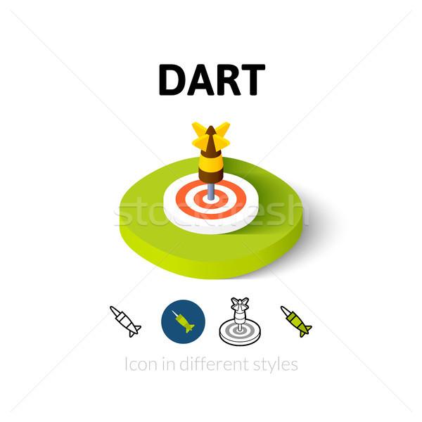 Darts ikon különböző stílus vektor szimbólum Stock fotó © sidmay