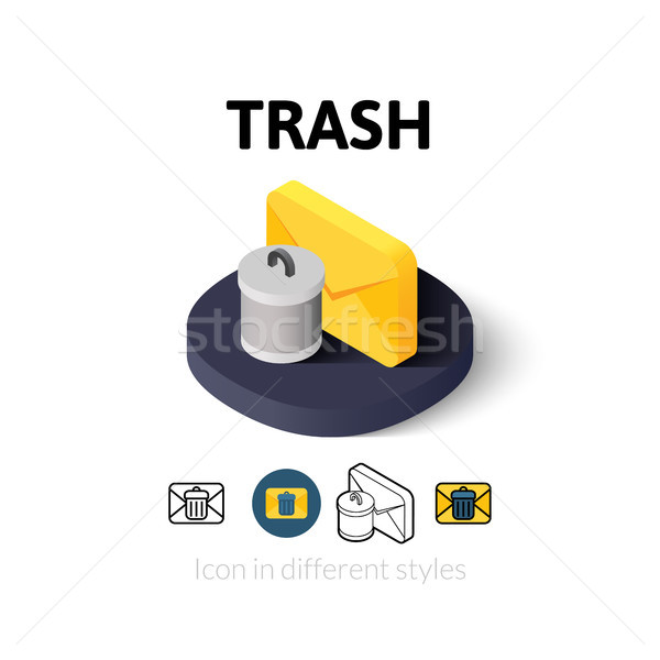 Trash icon in different style Stock photo © sidmay