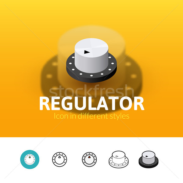 Regulator icon in different style Stock photo © sidmay