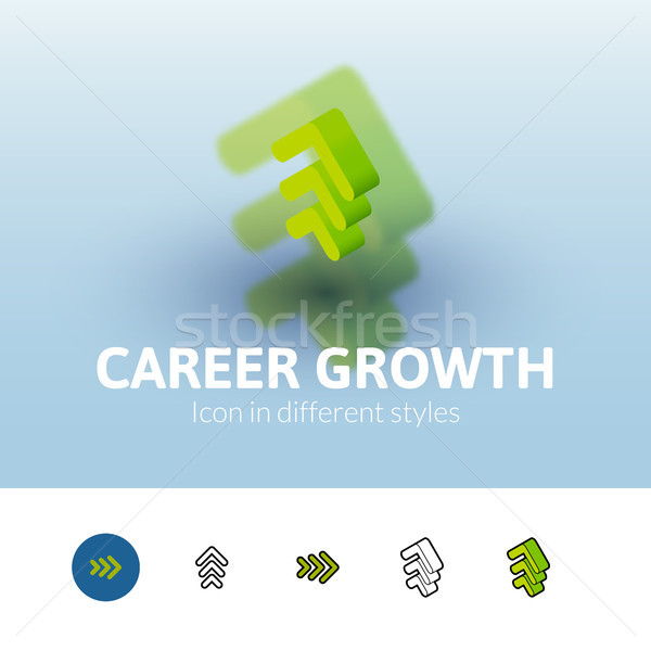 Carriere groei icon verschillend stijl kleur Stockfoto © sidmay