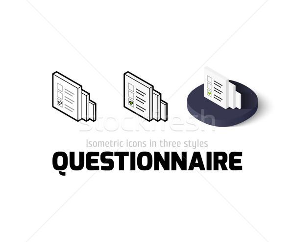 Questionnaire icône différent style vecteur symbole Photo stock © sidmay