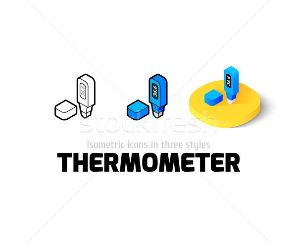 Thermometer icon in different style Stock photo © sidmay