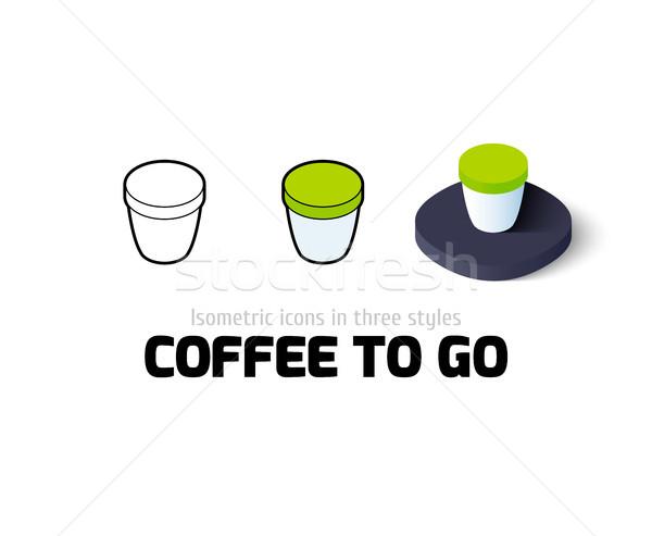 Сток-фото: кофе · икона · различный · стиль · вектора · символ