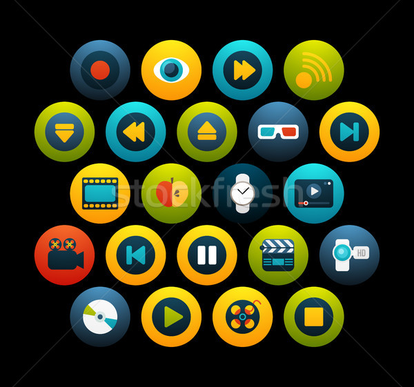 Flat icons set 5 Stock photo © sidmay
