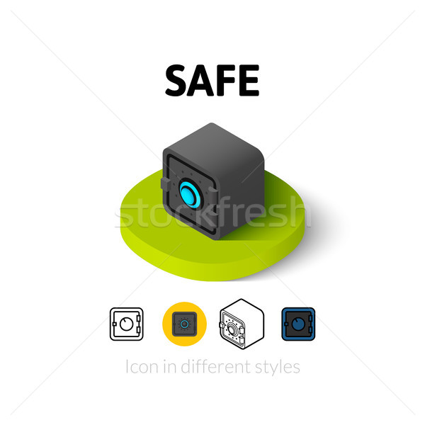 Safe icon in different style Stock photo © sidmay