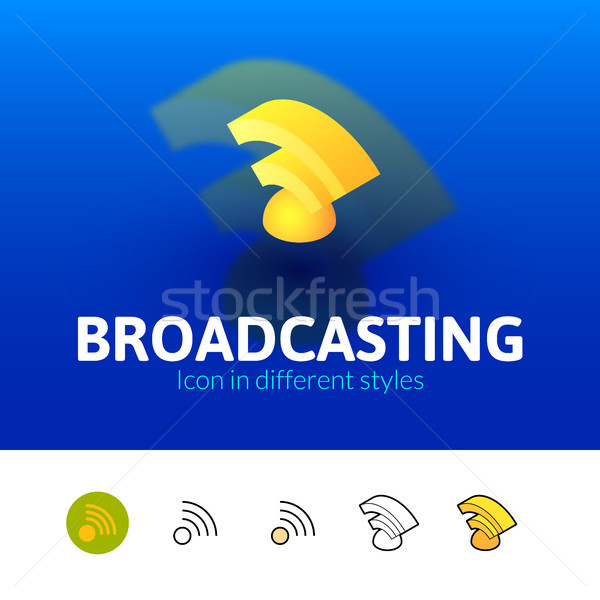 Broadcasting icon in different style Stock photo © sidmay