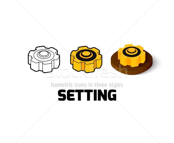 Icon verschillend stijl vector symbool schets Stockfoto © sidmay