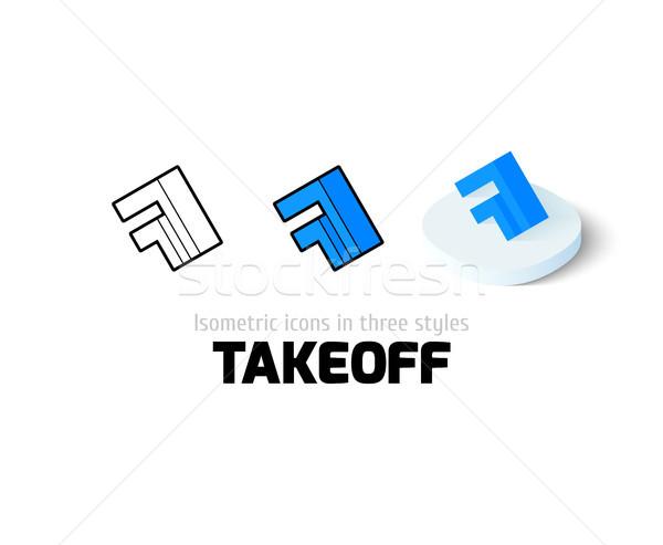 Foto stock: Despegue · icono · diferente · estilo · vector · símbolo