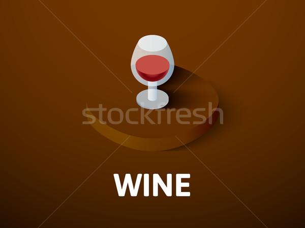 вино изометрический икона изолированный цвета вектора Сток-фото © sidmay