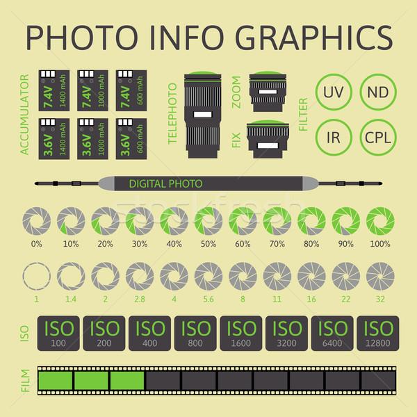 Foto infografica set due design tecnologia Foto d'archivio © sidmay
