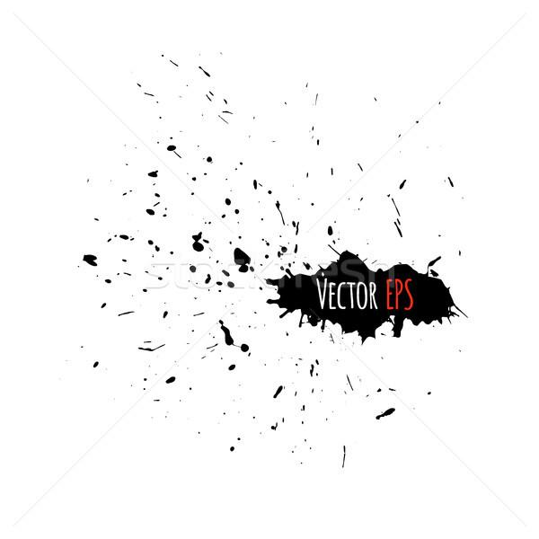 Grunge nagy csobbanás terv textúra absztrakt Stock fotó © sidmay