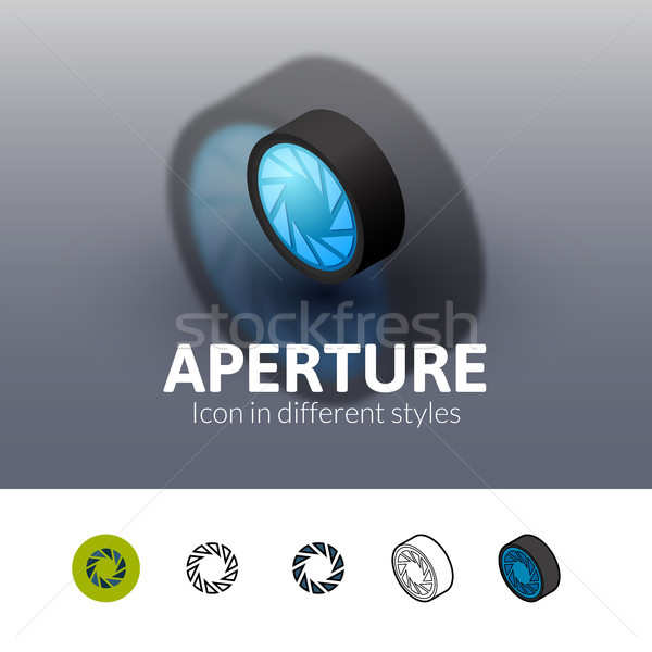 Aperture icon in different style Stock photo © sidmay