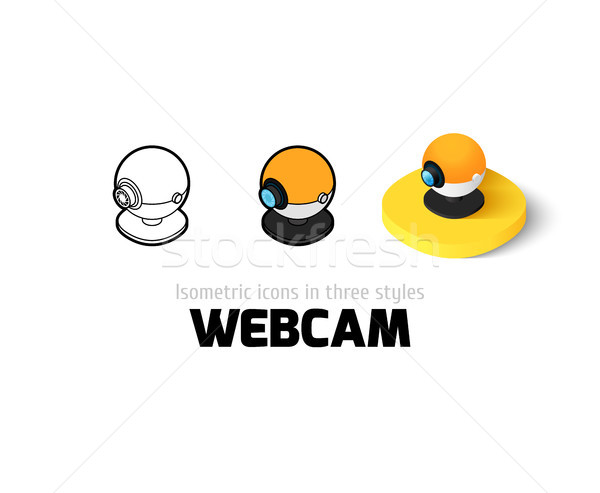 Webcam icon in different style Stock photo © sidmay