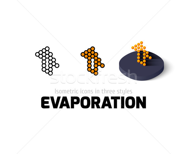 Evaporation icon in different style Stock photo © sidmay